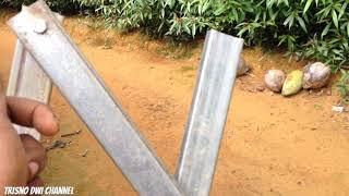 Cara membuat jemuran dari besi