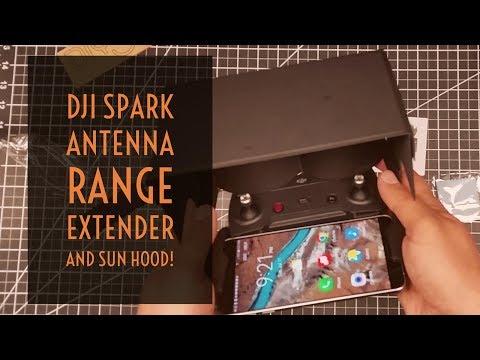 Video Drone - DJI Spark Antenna Range Extender and Sun Hood!