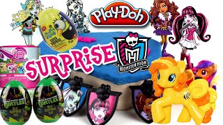 ♥ Monster High PlayDoh Surprise Box My Little Pony Fash'ems Surprise Eggs TMNT SpongeBob Squarepants