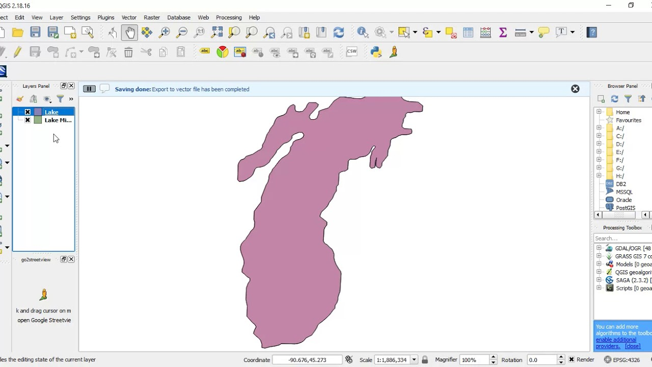 KML to Shapefile using QGIS