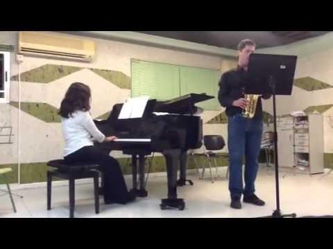 saxo y piano en conservatorio Benidorm