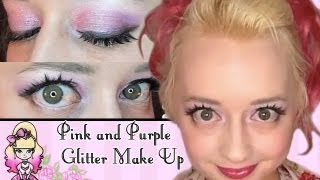 Morning Make Up- Super Glitter Pink and Purple - Violet LeBeaux