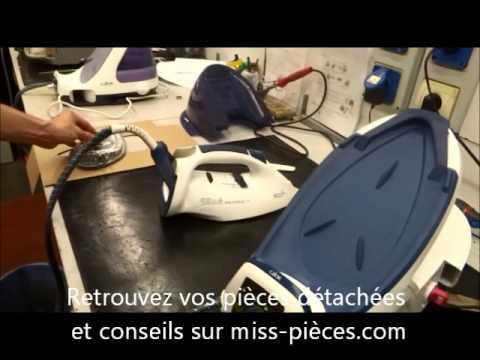Remplacement semelle calor youtube for Housse de repassage pour centrale vapeur