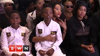 The Wife of the late  Sfiso Ncwane worte a letter to her  Husband as friends, family and supports of the gospel musician gathered at the Grace Bible church to pay tribute at his memorial