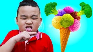 Do You Like Broccoli Ice Cream? | Lyndon Sings Nursery Rhymes Song for Kids