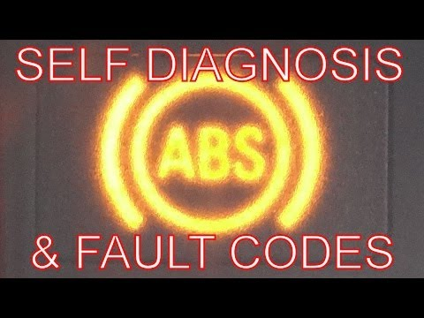 How to Fix the ABS ABS Warning Light on? Self Diagnosis Test & Fault Codes Turn Off ABS dash