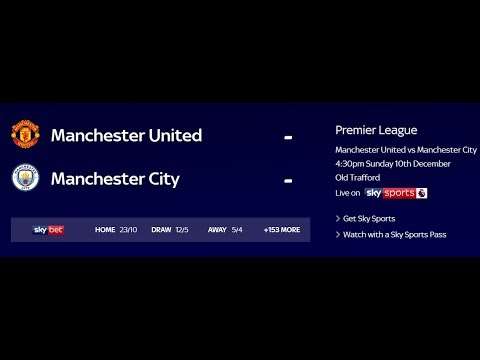 Football World Live Stream-Manchester United v Manchester City preview Derby clash live on Sky Sport