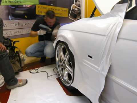 Vehicle Wrapping Bmw E46 By Mek Car Styling 3m White