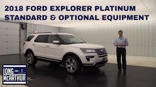 2018 FORD EXPLORER PLATINUM OVERVIEW: STANDARD & OPTIONAL EQUIPMENT