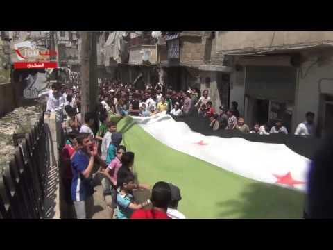 مظاهرة حي السكري من جامع ويس القرني 3 5 2013