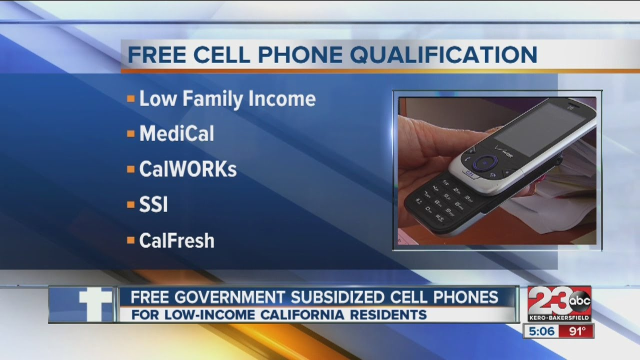 how to get free cell phone from government