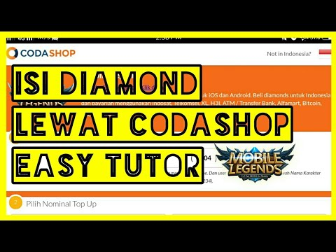 Cara Beli Diamond Lewat Codashop Mobile Legend Youtube
