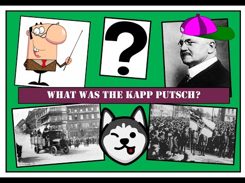 GCSE History: What Was The Kapp Putsch? (original Footage)