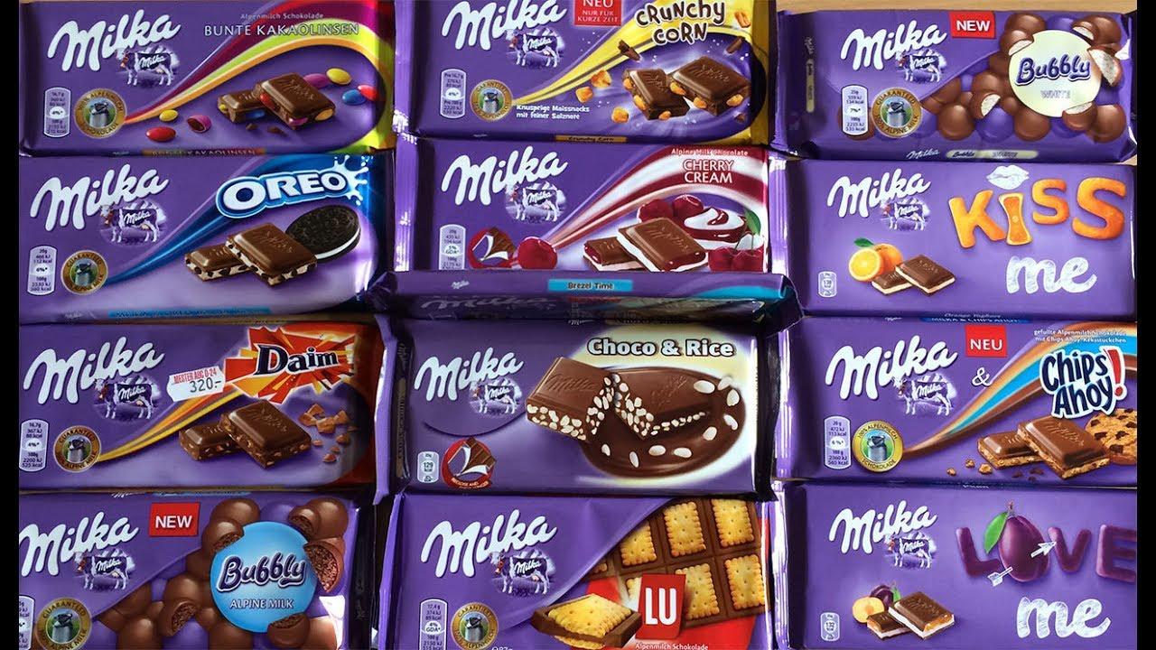 جميع انواع الشوكولاته من شركة Milka Youtube