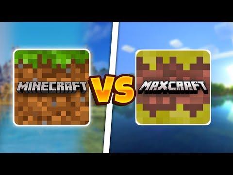 MINECRAFT POCKET EDITION VS MAX CRAFT (MCPE ПРОТИВ MAX CRAFT)