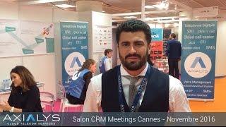 Axialys au salon CRM Meetings de Cannes
