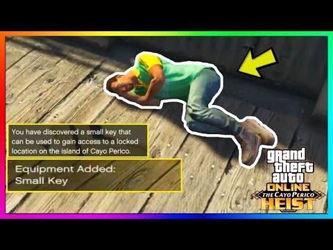 "GTA 5 Online - ALL 7 SECRET ""SMALL KEY"" LOCATIONS! How To Get Perico Pistol (Cayo Perico Heist DLC)"
