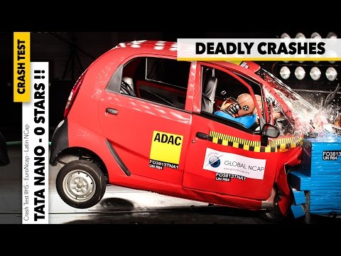 Crash Test Global Ncap INDIA 0 STARS Tata Nano, Ford Figo Hyundai i10, VW Polo GOMMEBLOG