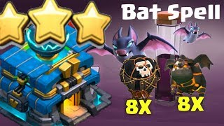 Clash of clans ll New strategy attack th 12 with Lavalon Bat spell