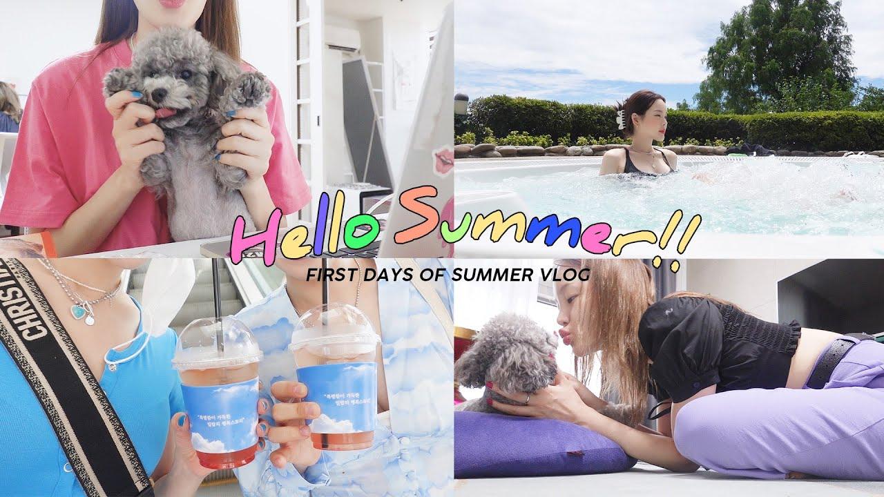 (Eng) 초여름, 알차게 꽉 채운 나의 일주일 VLOG🧃 내 mbti   역대급 네일 & 염색도 하고 호캉스도했슨!