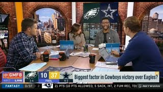 GMFB | Nate QUESTIONABLE: Biggest factor in Cowboys victory over Eagles? - Cowboys beat Eagles 37-10