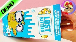 LOST KITTIES XXL - unboxing polski - 5 zagubionych kotków z kartonika po mleku od Hasbro - otwarcie