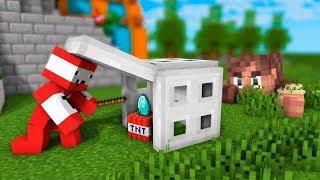 СУПЕР ТНТ И ШКОЛА ДЛЯ ЖИТЕЛЕЙ - 100 ТРОЛЛИНГ ЛОВУШКА Minecraft ВЫЖИВАНИЕ С ДРУГОМ