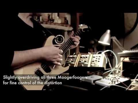 Slow Metallic Textures - Moog Guitar + Moogerfoogers + Eventide H9 + Line 6 Echo Pro