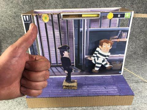 Break the Prison. Cardboard game. DIY
