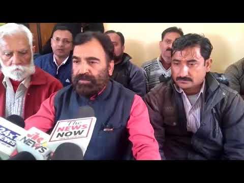 President, P.H.E worker's welfare Association Jammu province adresses media.