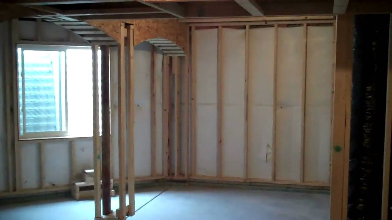 & Colorado Basement Finishing T.V. Short Project After Framing - YouTube