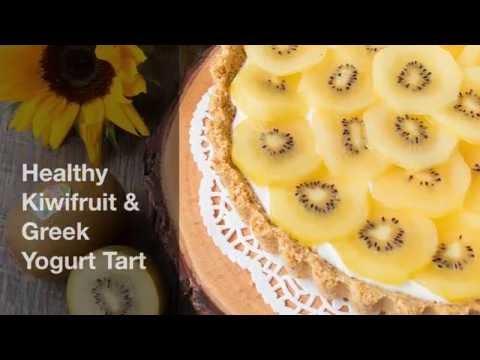 Healthy Kiwifruit & Greek Yogurt Tart