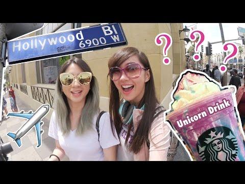 Arrived in Hollywood + Unicorn Drink??🦄 - Alodia Vlog