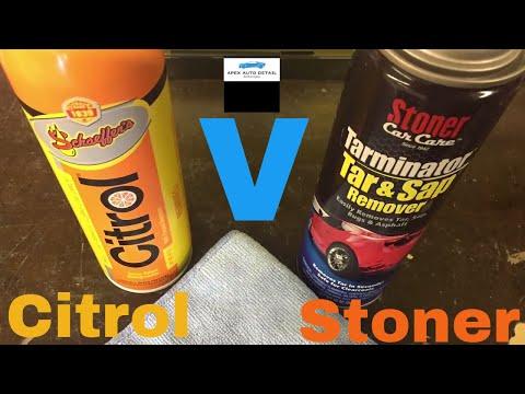 Head to Head!!! Schaeffer Citrol 266 Versus Stoner Tarminator Bug and Tar Remover!!!