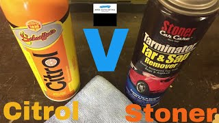 Head to Head!!! Schaeffer Citrol 266 Versus Stoner Tarminator Bug and Tar Remover!!!