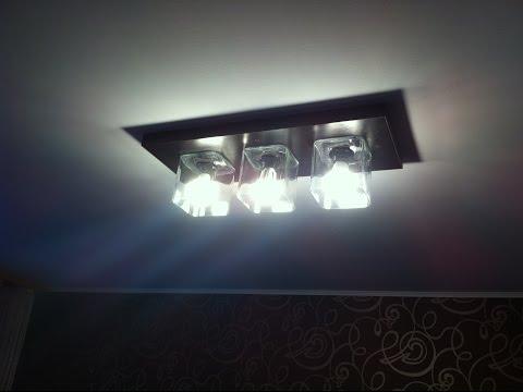 Потолочный светильник-люстра своими руками,очень дешево.