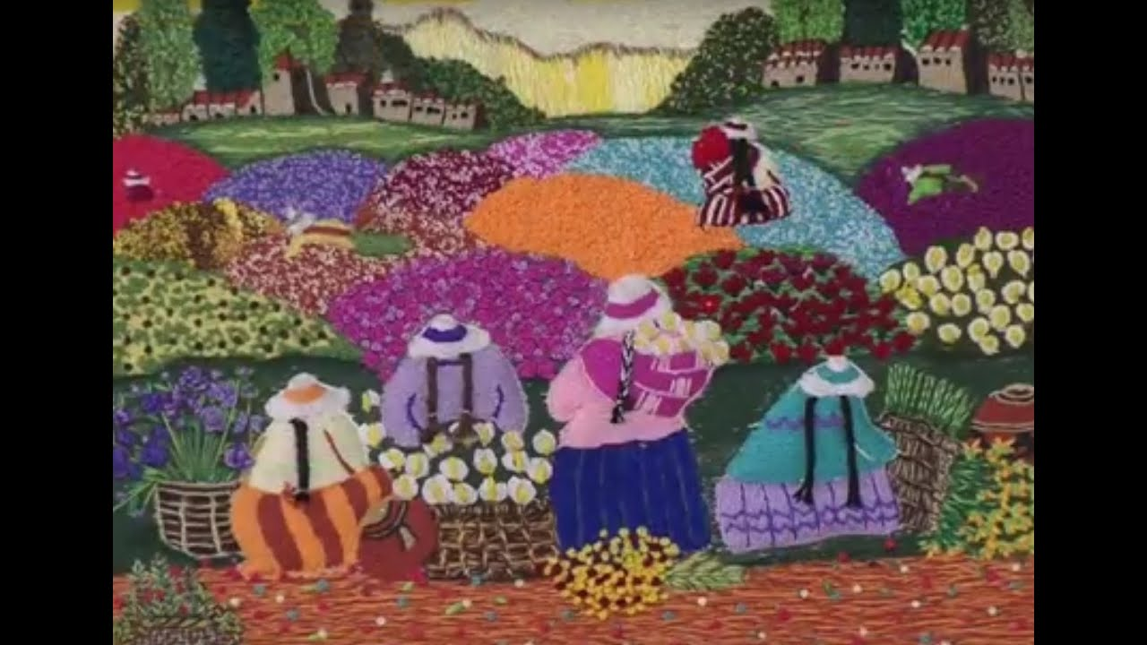 Como bordar con tecnica guatemalteca hogar tv por juan for Imagenes de cuadros abstractos rusticos