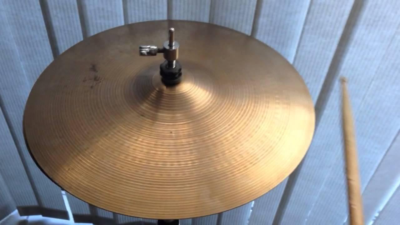 sold 14 vintage zildjian pre serial new beat hi hat cymbals 842 1321 grams thin stamp. Black Bedroom Furniture Sets. Home Design Ideas
