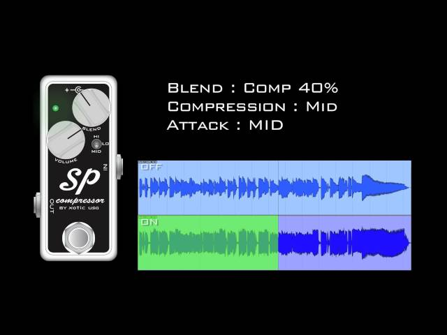 Xotic SP Compressor with semi dirty Dr.Z amp