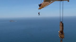 Daredevils Base Jump From Crane