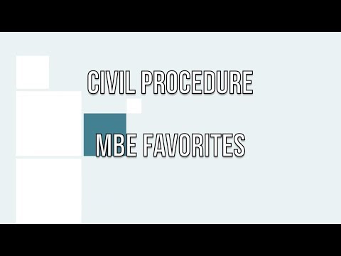 Civil Procedure MBE Favorites first video - YouTube