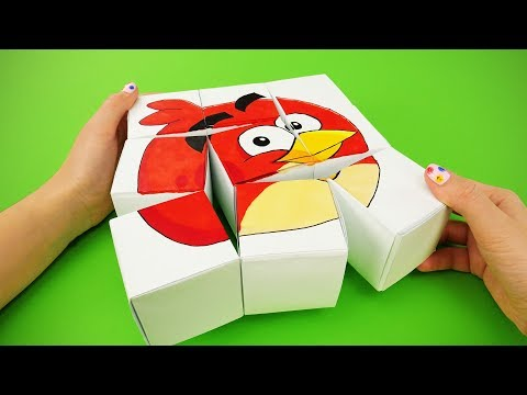 ANGRY BIRDS 2 HUGE PAPER PUZZLE and 9 SIMPLE DIY YOU CAN MAKE FOR FUN