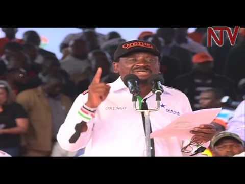 Kenya Elections: Raila Odinga's final speech in Nakuru