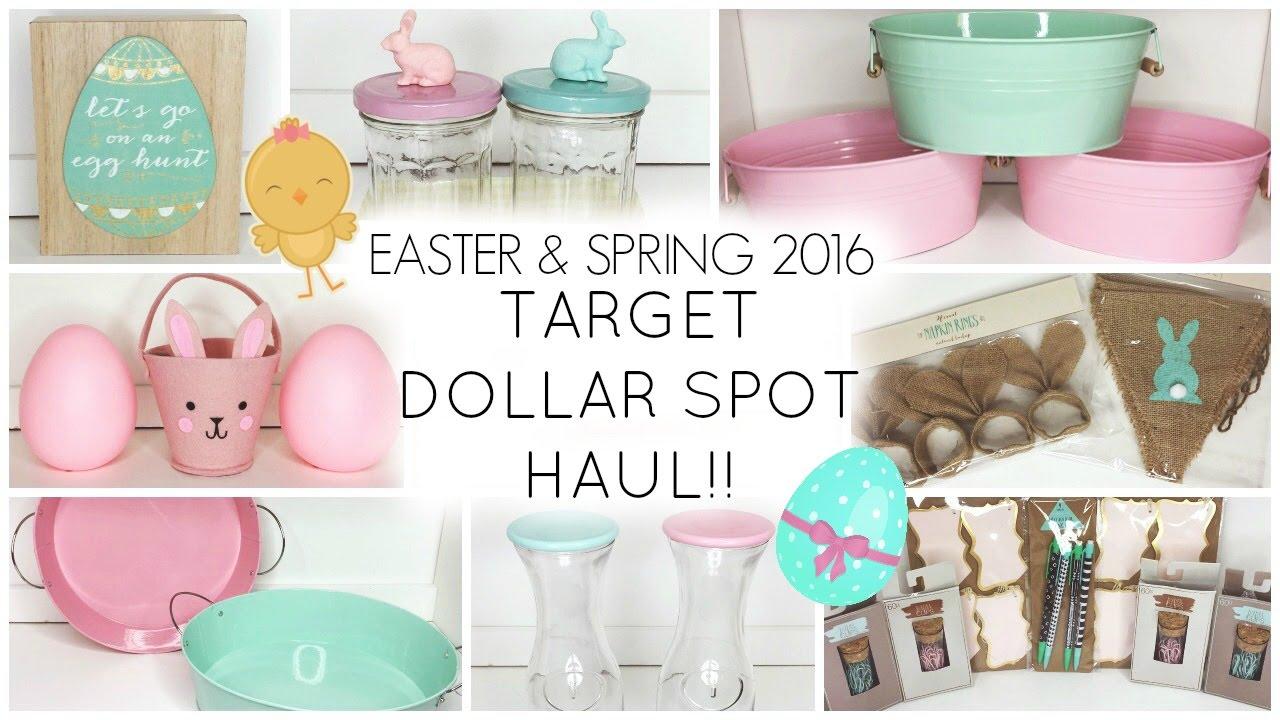 Target Dollar Spot Haul ♡ Easter & Spring 2016 - YouTube