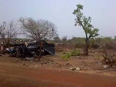 Indigent gold mining transient camp in Mali, Africa