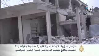 تعرض المناطق الخاضعة لتنظيم الدولة بعين العرب للقصف