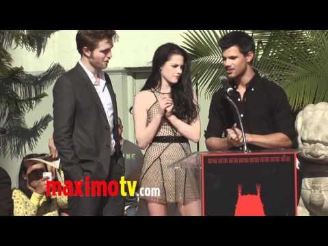 Breaking Dawn Hand Print Ceremony with Robert Pattinson, Kristen Stewart & Taylor Lautner