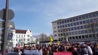 Demo  in Bielefeld  02.04.2016