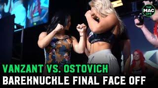 Paige VanZant vs. Rachel Ostovich BareKnuckle FC Final Face Off