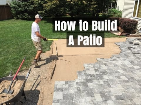 how to build a patio an easy do it yourself project youtube. Black Bedroom Furniture Sets. Home Design Ideas